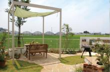 テラス・デッキ・シンク・菜園など 見どころ満載の「使える庭」 香美市 N様邸