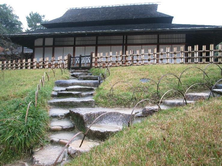 岡山 後楽園 石階段